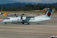 Air Canada Express Dash 8-300 (C-GVON) (Vince Amato Photography) Tags: aircanadaexpress bombardier britishcolumbia cgvon cyvr canada commercialairliner dh3 dh8c dash8300 ggn jza kv qk skv vancouver vancouverinternationalairport yvr zx
