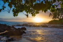 Reflections (Kirt Edblom) Tags: maui mauihawaii makena makenahawaii hawaii beach milf gaylene wife water waves waterscape scenic serene sunset sunlight landscape lava lavaflows pacific pacificocean ocean clouds blue bluesky bluewater sand tree trees tropical seascape kirt kirtedblom edblom luminar nikon nikond7100 nikkor18140mmf3556