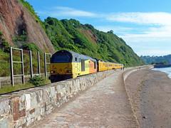 67027 Teignmouth (Marky7890) Tags: colasrail 67027 class67 1q18 teignmouth railway devon rivieraline train