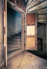 Die Schlosstreppe (Planitzer Pictures) Tags: schloss castle chateau lost verlassen vergessen forgotten decay verfall abandoned marode rotten urbex urban exploring exploration treppe stairs wendeltreppe tür holztür stufen holz
