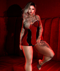 A Trap Is Waiting For You! (yumikazumi) Tags: fashion blogger blog bento clothes clothing secondlife doux dress freya genus glitzz styling shopping photoshop lic sl woman foxcity emarie re acsendant oinc