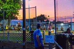Sunset Volleyball (VBuckley.com) Tags: sunset volley volleyball tracks trackstavern summer sky fun july milwaukee wisconsin riverwest colorful beer serve people coedvolleyball volleyballleague beachvolleyball