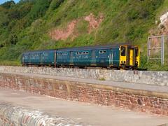 150244 Teignmouth (2) (Marky7890) Tags: gwr 150244 class150 sprinter 2f13 teignmouth railway devon rivieraline train