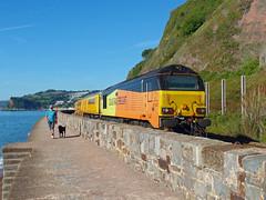 67023 Teignmouth (Marky7890) Tags: colasrail 67023 class67 1q18 teignmouth railway devon rivieraline train
