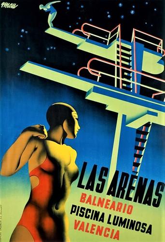 Renau, Las Arenas. Balneario. Piscina luminosa. Valencia, 1932.  Fundació Josep Renau.