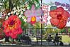 La Flor De Mi Madre (Trish Mayo) Tags: fiberart yarnbomb naomilawrence eugenemccabefield fence bench eastharlem elbarrio artinstallation nycparks