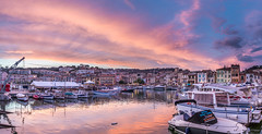 Cassis, Pano (E.K.111) Tags: france cassis provencealpescôtedazur sunset sky port