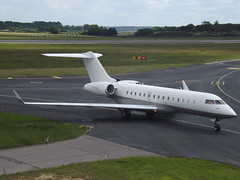 VP-BVG Bombardier Global Express-BD-700-1A10 (MVA Aviation Ltd-TAG Aviation) (Aircaft @ Gloucestershire Airport By James) Tags: luton airport vpbvg bombardier global expressbd7001a10 mva aviation ltdtag bizjet eggw james lloyds