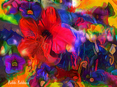 Funky Flower Fun (brillianthues) Tags: flowers floral garden lights abstract colorful collage photography photmanuplation photoshop
