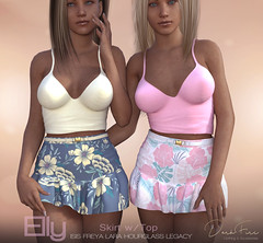 Elly Skirt and Tops (DarkFire Store) Tags: darkfire secondlife secondlifemesh slfashion originalmesh