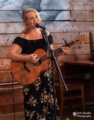 Fern.Unfurling @ Stone Way Café (Kirk Stauffer) Tags: kirk stauffer photographer nikon d5 adorable amazing attractive awesome beautiful beauty charming cute darling fabulous feminine glamour glamorous goddess gorgeous lovable lovely perfect petite precious pretty siren stunning sweet wonderful young female girl lady woman women live music concert show gig tour lighting singer musician indie long red hair redhead ginger freckles white teeth lips green eyes bare shoulders model tall short fashion style dress earrings nose ring piercing photo portrait smiling playing acoustic guitar