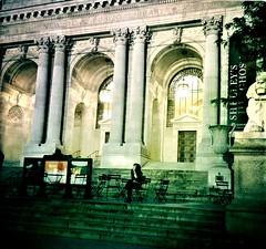 Night at the Library (Kumiko Hoshino) Tags: new york city evening