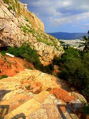 Acropolis Hill (dimaruss34) Tags: newyork brooklyn dmitriyfomenko image sky clouds skyline greece athens acropolis acropolishill wall stonewall trees hill mountains rocks