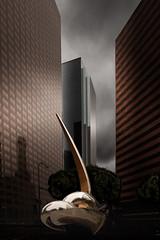 LA Downtown Sculptures (mcook1517) Tags: california city sky urban color art buildings losangeles downtown fineart visual visualart