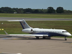 M-AABG Bombardier BD-700-1A11 Global 5000 (ExecuJet Middle East) (Aircaft @ Gloucestershire Airport By James) Tags: luton airport maabg bombardier bd7001a11 global 5000 execujet middle east bizjet eggw james lloyds