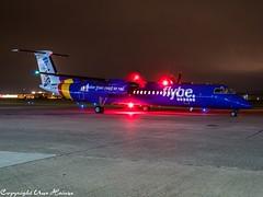 flybe G-FLBC HAJ at Night (U. Heinze) Tags: aircraft airlines airways airplane planespotting plane olympus omd em1markii flugzeug haj hannoverlangenhagenairporthaj night eddv