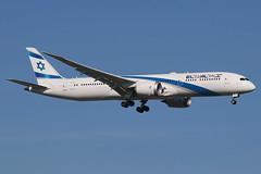 "4X-EDJ | Boeing 787-9 Dreamliner | El Al ""Kfar Saba"" (cv880m) Tags: newyork jfk kjfk kennedy johnfkennedy spotting planespotting aviation airliner airline aircraft airplane jetliner airport 4xedj boeing 787 789 7879 dreamliner elal israel kfarsaba"
