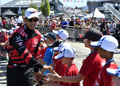 Helio and the Rookie Racers (Richard Wintle) Tags: ntt nttdata indycar racing autosport motorsport honda indy toronto ontario canada streetsoftoronto exhibitionplace heliocastroneves rookieracers timhortons