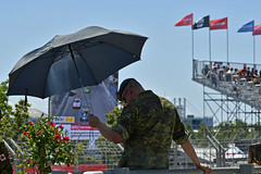 Beat the heat - Honda Indy Toronto 2019 (Richard Wintle) Tags: ntt nttdata indycar racing autosport motorsport honda indy toronto ontario canada streetsoftoronto exhibitionplace canadianarmedforces military umbrella