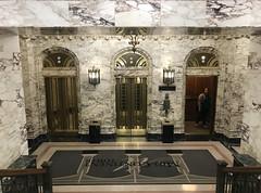 Mid-Continent Tower lobby (plasticfootball) Tags: tulsa oklahoma midcontinenttower deco lobby elevators