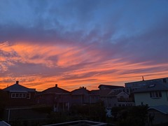 Nice Sunset Colors on Winter Hill (Eric Kilby) Tags: somerville winterhill sunset clouds