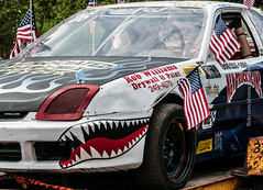 Shark Racer (scattered1) Tags: july4th mi marquette racer upperpeninsula parade michigan summer honda northernmichigan car northern independenceday prelude flag 2019 race shark