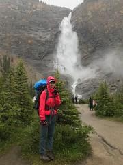 Back at the start at Takawkaw Falls (daviddodge2002) Tags: park mountains bc hiking rocky national glaciers yoho iceline daviddodge lindseydodge🐘