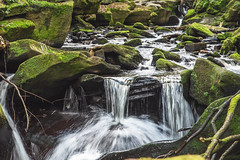 Over the edge (mynameisblank!) Tags: waterfall water trees nature green longexposure nikon nikond810 lancashire england uk summer healydell rochdale