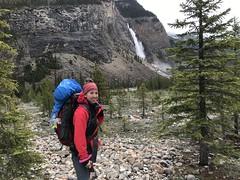 Near the end of Iceline trail - Takawkaw Falls in sight (daviddodge2002) Tags: lindseydodge🐘 park mountains bc hiking rocky national glaciers yoho iceline daviddodge