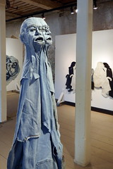 Jim Arendt, fabric sculptures (chasdobie) Tags: art artist fabric jimarendt sculpture ontario canada nikon display indoor almonte lanarkcounty