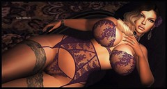 Purple Passion (Moxxie Kalinakova) Tags: brunette sexy curves curvy classy class milf beauty elegant lingerie retro vintage moxxie kalinakova