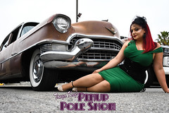 DSC_1817 (classic77) Tags: pin up pinup pole show classic car cadillac girl model