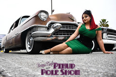 DSC_1816 (classic77) Tags: pin up pinup pole show classic car cadillac girl model