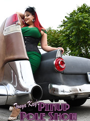 DSC_1814 (classic77) Tags: pin up pinup pole show classic car cadillac girl model