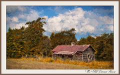 Old Brown Farmhouse (fine art by Christy) Tags: farmpainting oldhouse oldfarm farm oldbarn barn rustic countryscene farmhouse fallcolors landscapepainting landscapephoto ruralscene