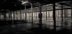 Golden Grain (Mark Blanchard) Tags: warehouse durham bokeh grain goldenbelt blackandwhite nc