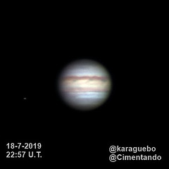 Júpiter - Europa - 2019-07-18 - 22:57 U.T. (karaguebo) Tags: astrophotography celestron astronomía astrofotografía zwo bresser astronomy astro astrophoto asi178mm jupiter c6 baader