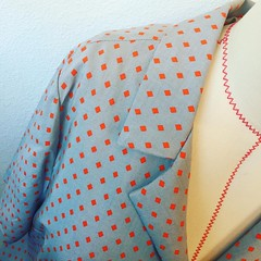 Rayon Camp Shirt with Vintage Buttons (kellyhogaboom) Tags: blog vegan sewing bespoke vegantailor thevegantailor bespokehogaboom vintage rayon