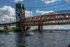 190629.172 Summer traffic under the Burlington Canal Liftbridge (tulak56) Tags: 2019 ontario burlington canal boat sailboat bridge