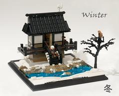 Winter (Ted Andes) Tags: winter summer joust snow japan fishing stream tree lego 2019 vignette yuki fuku