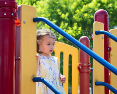 Daughter at the playground (Anthony S Caldera) Tags: nikon d3200 playground childhood voigtlander 58mm daughter dress cute child park innocent toddler