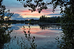 Romantic evening by the lake 💕 (L.Lahtinen (nature photography)) Tags: lake finland sunset summer colorsofsummer landscapephotography reflections landscape päijänne