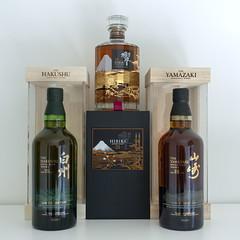 Suntory Limited Edition Whisky Trio (globetrekimages) Tags: whisky whiskey bottle scotch japan japanese suntory hibiki hakushu yamazaki alcohol