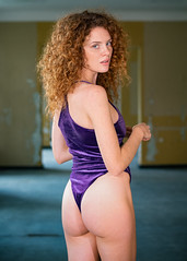 Magdalena (juergenberlin) Tags: blue portrait woman sexy beauty eyes lingerie redhair dessous