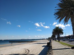 West - St Kilda Beach on a warm 17°C Winter day in Melbourne (avlxyz) Tags: