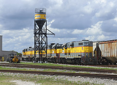 307, Clewiston FL,  3 Feb 2019 (Mr Joseph Bloggs) Tags: ussc sugar corporation scfe south central florida express emd gp11 electro motive division clewiston 307 305 310 train treno bahn railway railroad zug vlak
