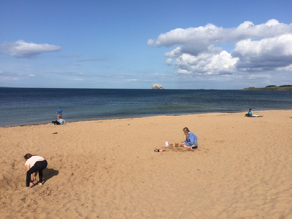 North Berwick Beach And Bass Rock