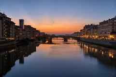 L'Arno - Firenze, Italia (Ernst_P.) Tags: pontevecchio italien florenz firenze abendrot sonnenuntergang fluss arno toscana nohdr