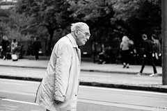 Caution (Cycling-Road-Hog) Tags: blackwhite candid canoneos750d citylife colour efs55250mmf456isstm edinburgh edinburghstreetphotography monochrome people places princesstreet scotland street streetphotography streetportrait urban