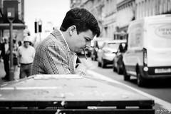 Cigar Time (Cycling-Road-Hog) Tags: blackwhite candid canoneos750d citylife colour efs55250mmf456isstm edinburgh edinburghstreetphotography monochrome people places scotland smoking southbridge street streetphotography streetportrait style urban